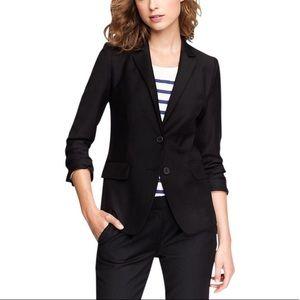 Black Two-button Blazer In Super 120s Wool
